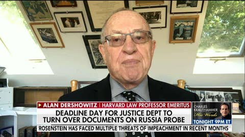 Alan Dershowitz on DOJ turning over Russia probe docs