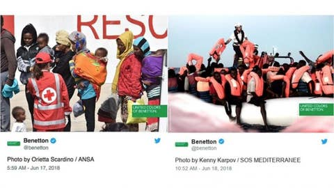 United Colors of Benetton slammed for using migrants in ad