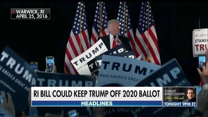 Rhode Island bill would keep Trump off 2020 ballot unless he releases his tax returns