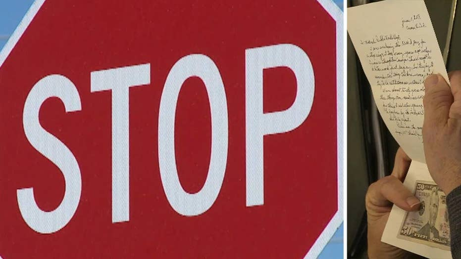Stop sign thief sends $50, apologizes for decades-old theft