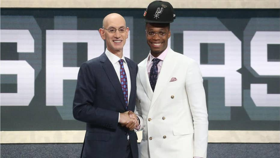 bb471083a76 Picture of NBA draft pick Lonnie Walker IV s  floating  hat becomes ...