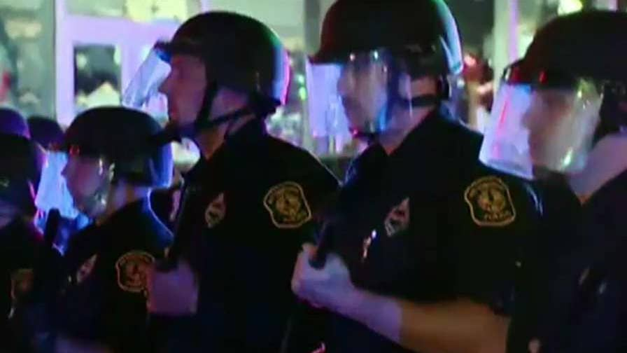 Demonstrators marched to protest the killing of an unarmed black teenager.