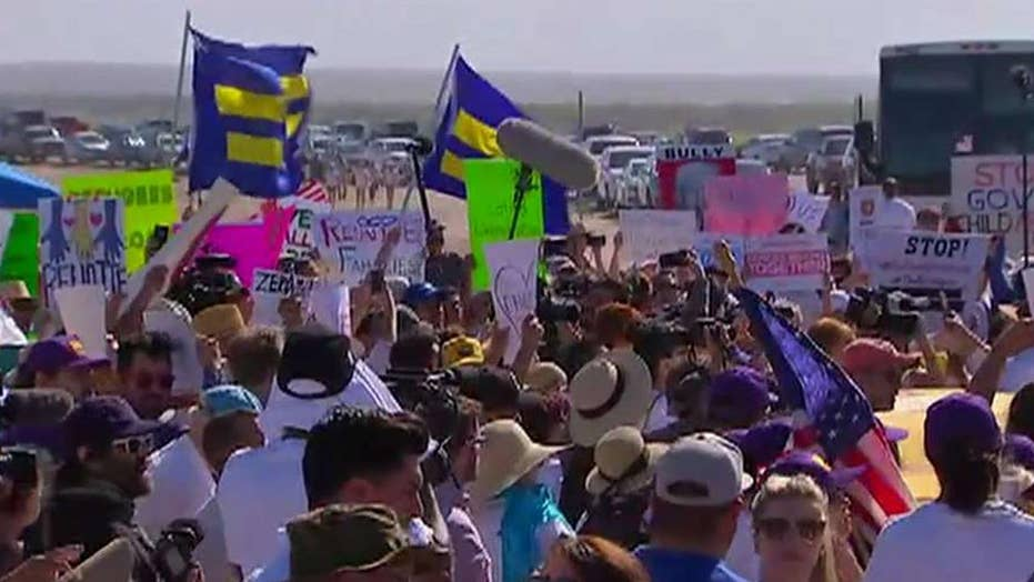 Protests at border as Trump admin works to reunite families