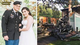 "A newlywed couple from Maryland tells Fox News their wedding ""turned out beautifully"" despite their family's home catching fire on the morning of the nuptials."