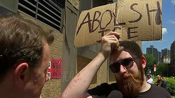 Protesters in New York City talk to Todd Piro about their push for open borders.