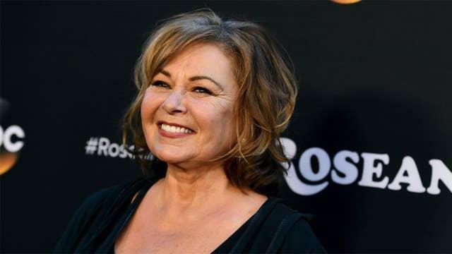 Roseanne Barr breaks down during interview