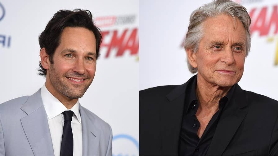 Michael Douglas and Paul Rudd discuss what it was like filming the movie 'Ant-Man and The Wasp.'