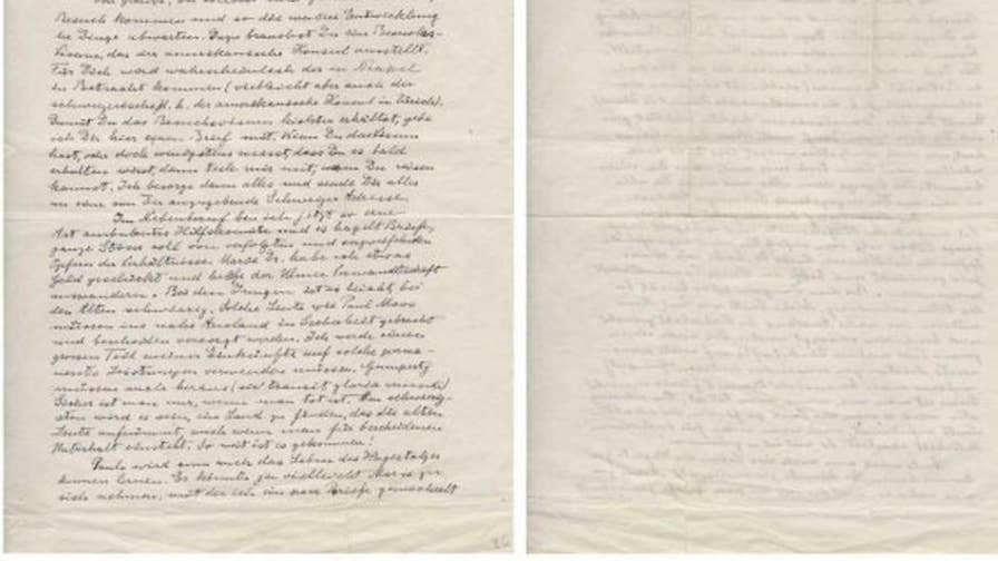 Letters written by Albert Einstein that detail his escape from the Nazis are being auctioned off.