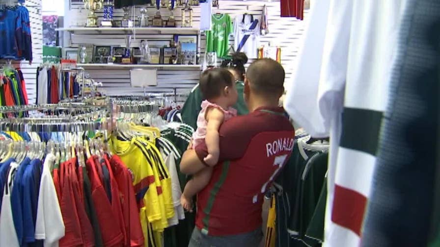 Sports apparel stores all over the country are seeing a huge rise in sales.