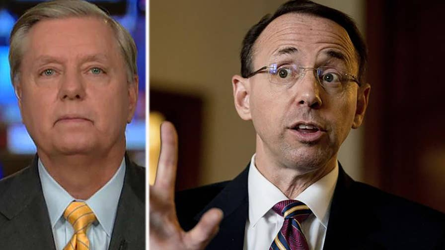 Republican member of the Senate Judiciary Committee Sen. Lindsey Graham joins 'The Story' with questions he wants Rod Rosenstein to answer.