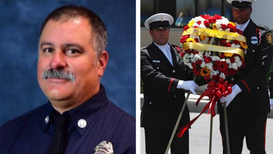 Firefighters salute fire captain ambushed responding to fire