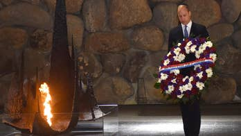Duke of Cambridge starts his historic trip to the Israel with visit to the Yad Vashem Holocaust memorial.