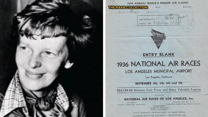 Document signed by Amelia Earhart discovered in attic box