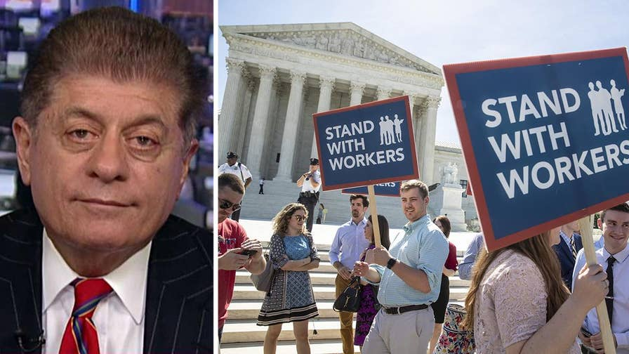 Supreme Court rules against big labor in dispute over union fees; Fox News senior judicial analyst breaks down the financial impact of the decision.