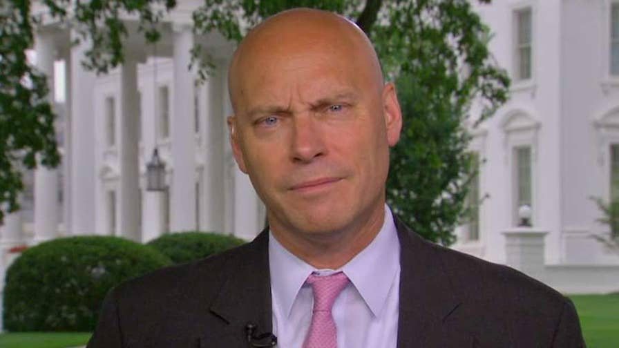 Marc Short, White House director of legislative affairs, praises Supreme Court decision that government workers can't be forced to contribute to labor unions that represent them in collective bargaining.