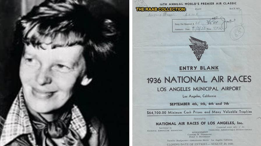 An extremely rare document signed by Amelia Earhart that provides details of her doomed aircraft has surfaced after half a century hidden in an attic. The document and the accompanying archive is valued at $75,000.