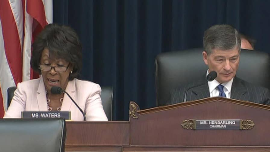 Rep. Maxine Waters responds to Chairman's comments on civility during House Financial Service committee hearing.