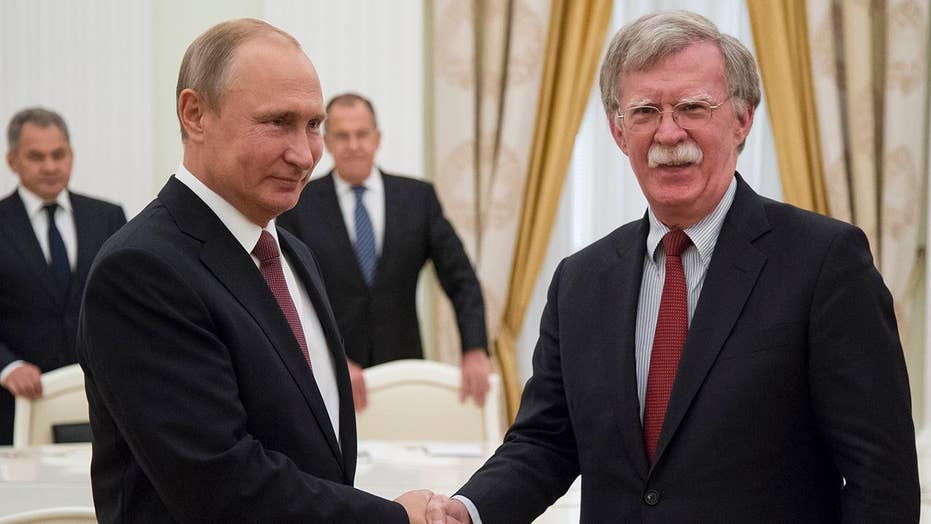 Bolton in Russia to lay groundwork for possible Trump summit