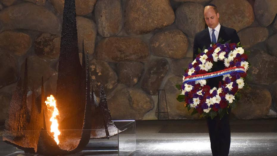 Prince William meets with Holocaust survivors in Israel
