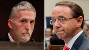 Republican lawmaker tells Deputy Attorney General Rod Rosenstein and FBI Director Christopher Wray that America is being 'torn apart' by the investigation during a House hearing on anti-Trump agent Peter Strzok.