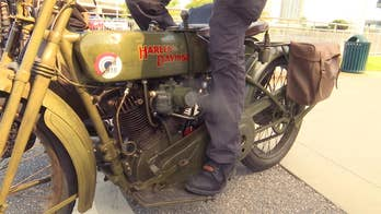 100-year-old Harley-Davidson returns from France to honor American WWI vets