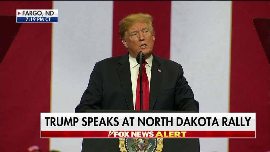 Trump Rips Maxine Waters at North Dakota Rally