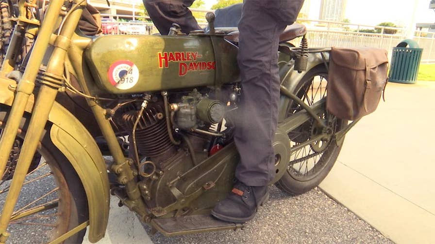 A WWI Harley-Davidson motorcycle rolled onto American soil for the first time in a century, kick-starting a nationwide repatriation tour this week.