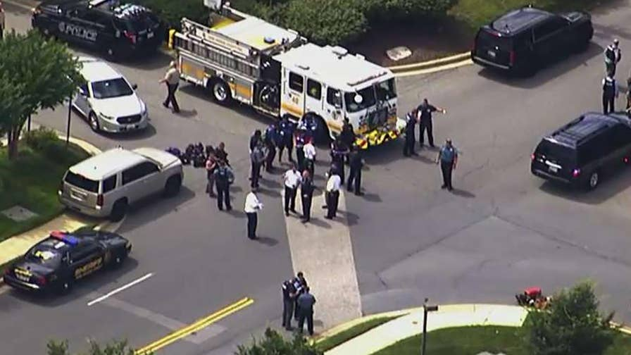 County Sheriff Ron Bateman says one suspect is in custody following incident at Capital Gazette in Maryland.