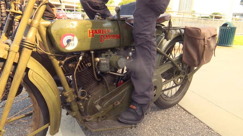 WWI motorcycle crosses America in commemorative ride