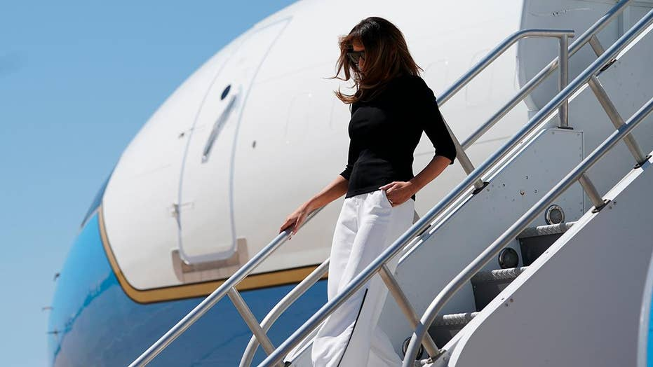 Melania Trump arrives in Arizona to visit migrant facility