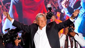 The frontrunner is Andres Manuel Lopez Obrador, or AMLO, a far-left populist whose campaign is sweeping Mexico; William La Jeunesse reports from Mexico City.