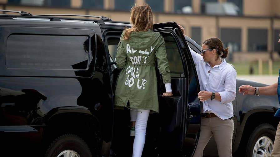 "The notorious coat Melania Trump wore to visit immigrant children in Texas that read ""I really don't care, do u?"" on the back is now being auctioned off on eBay for nearly a thousand dollars."