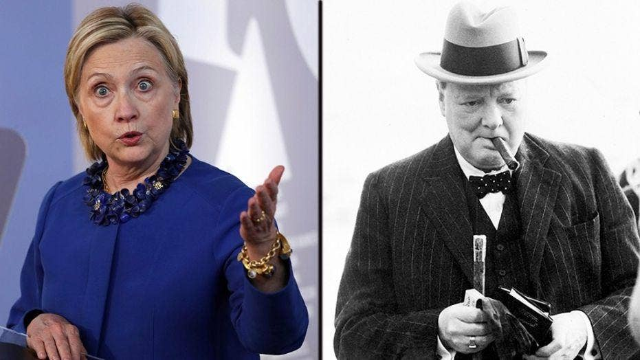 Hillary Clinton compares herself to Winston Churchill