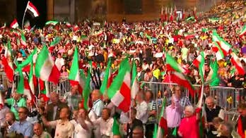 The National Council of Resistance of Iran holds a rally in France.