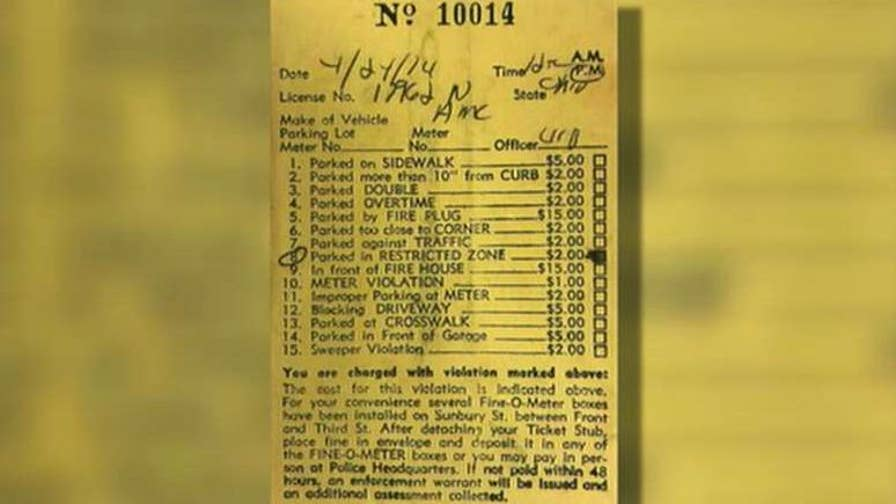 Driver who felt guilty pays parking ticket 44 years later.
