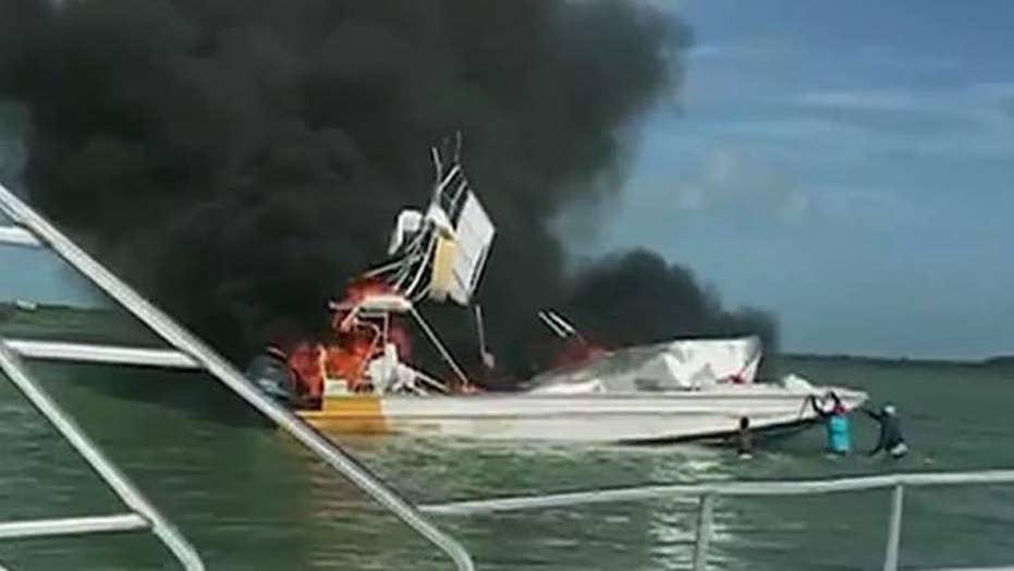 Boat explosion in the Bahamas kills 1, injures 9