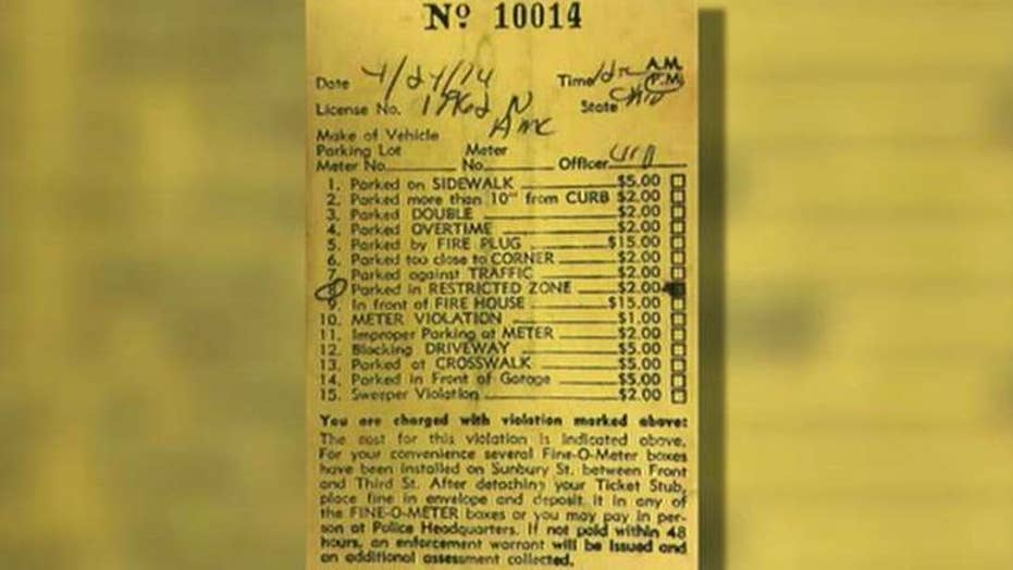 Driver pays parking ticket 44 years later