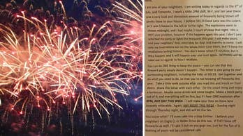Michigan police investigating threats against entire neighborhood after anonymous letter was sent promising to retaliate if there are any fireworks set off after 9pm.