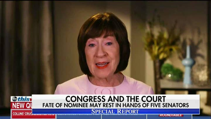 Brit Hume on Collins, Murkowski on Supreme Court Pick