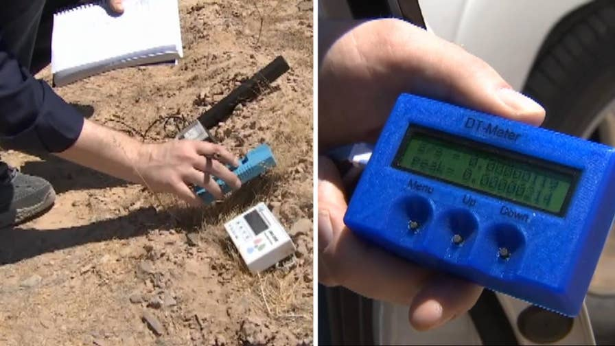 Man measuring the rate of time with brand new technology called a differential time rate meter around southern Nevada claims to have found area where time slowed down.