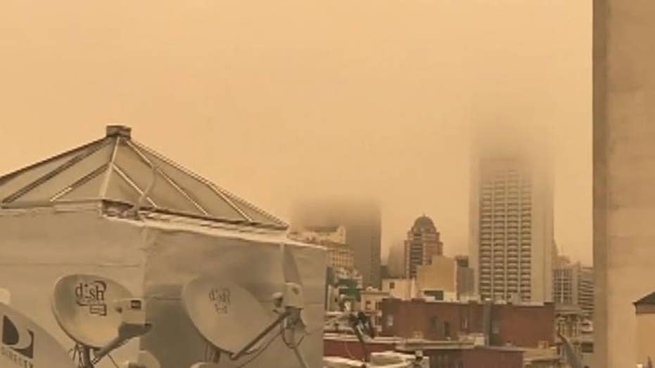 Air quality warning in San Francisco due to wildfire smoke