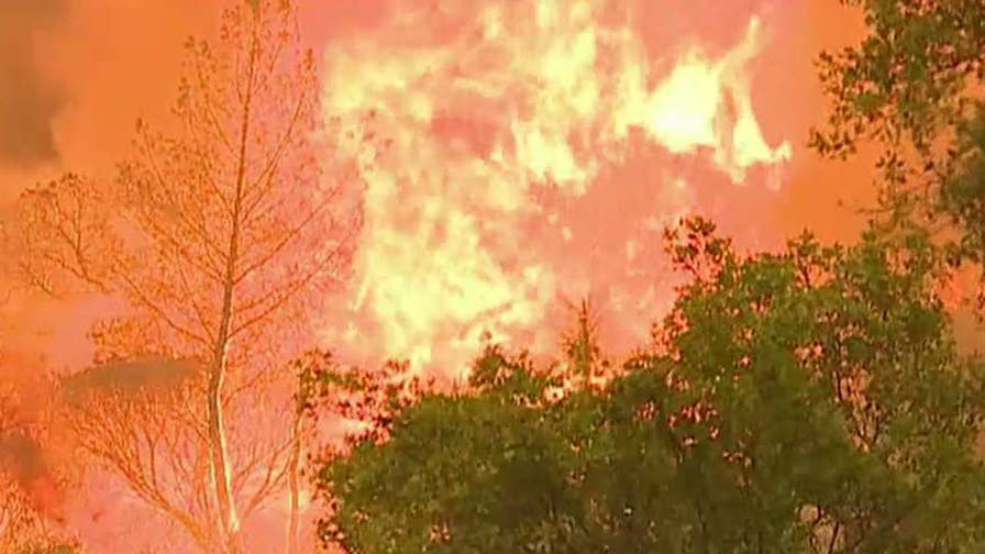 Firefighters battling several wildfires across the West and bone-dry conditions are making their job more difficult; Anita Vogel reports from Los Angeles.