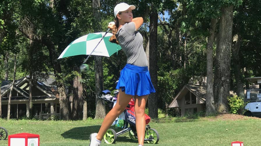 """Kayleigh """"Buggy"""" Reinke was only 3-years-old when she lost her father Army Sergeant Gavin Reinke to a roadside bomb in Iraq in 2006. Now, the 15-year-old uses golf to cope with the loss."""