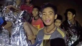 """Don't blame yourself,"" one of the parents of the 12 young soccer players who have been trapped in a cave in northern Thailand for two weeks has written to the boys' coach."
