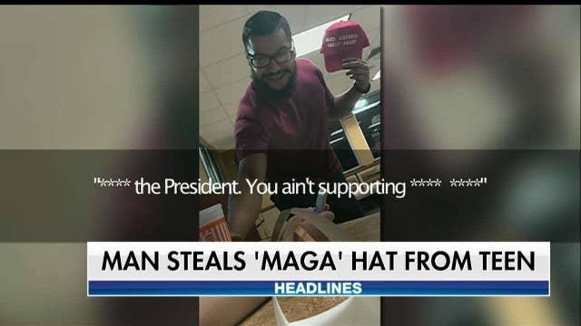 Man throws drink on Texas teen over 'MAGA' hat