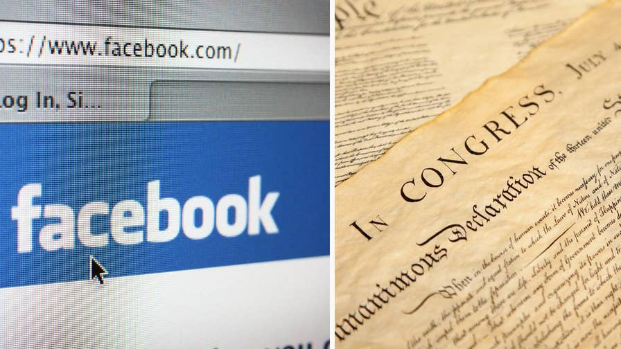 Facebook has removed a post from Texas newspaper The Liberty County Vindicator that featured excerpts from the Declaration of Independence. Facebook's reason: the Declaration of Independence contained 'hate speech.'