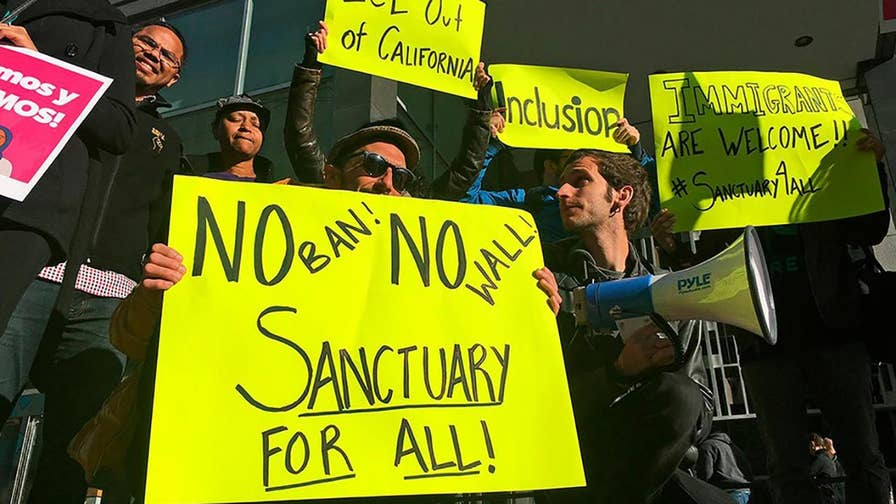 Federal judge rules that the Trump administration cannot block two state laws on illegal immigrants.