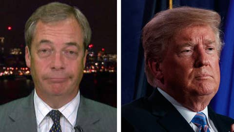 Nigel Farage on the 'red line' Trump 'ban'