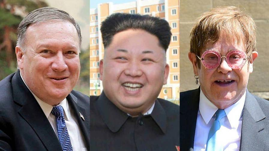 Secretary of State Mike Pompeo is reportedly giving Kim Jong Un a CD of Elton John's 'Rocket Man' at President Trumps request.
