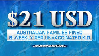 Australia to issue monthly fines to parents who don't vaccinate their children; reaction on 'Fox & Friends.'